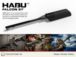 Falcon 37, Charging Handle, Cheek Rest