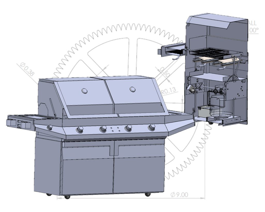 CAD Modeling for Flippin BBQ
