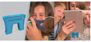 Family using the ChargeGuardz for their Apple and Android Devices