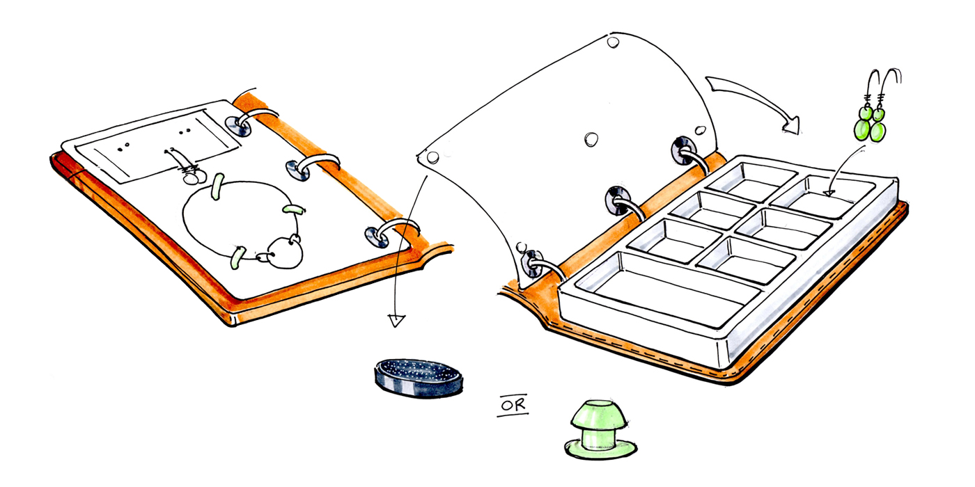 MyDelena CAD Drawings for Jewelry Travel Case