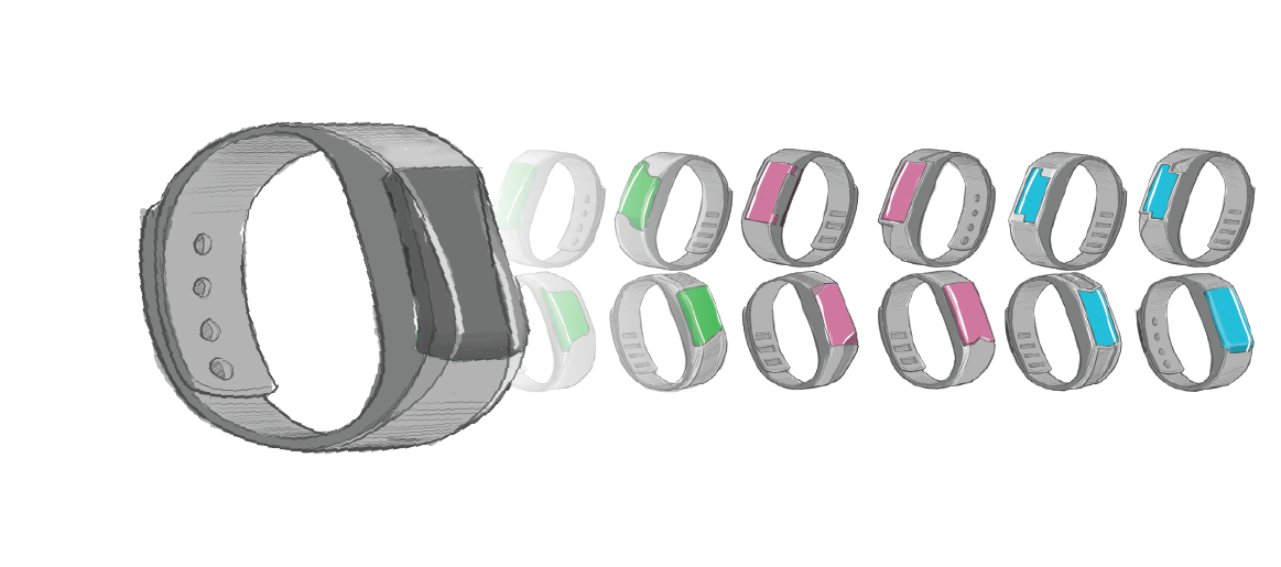 ReVibe Technologies 3D Drawings of Wristbands