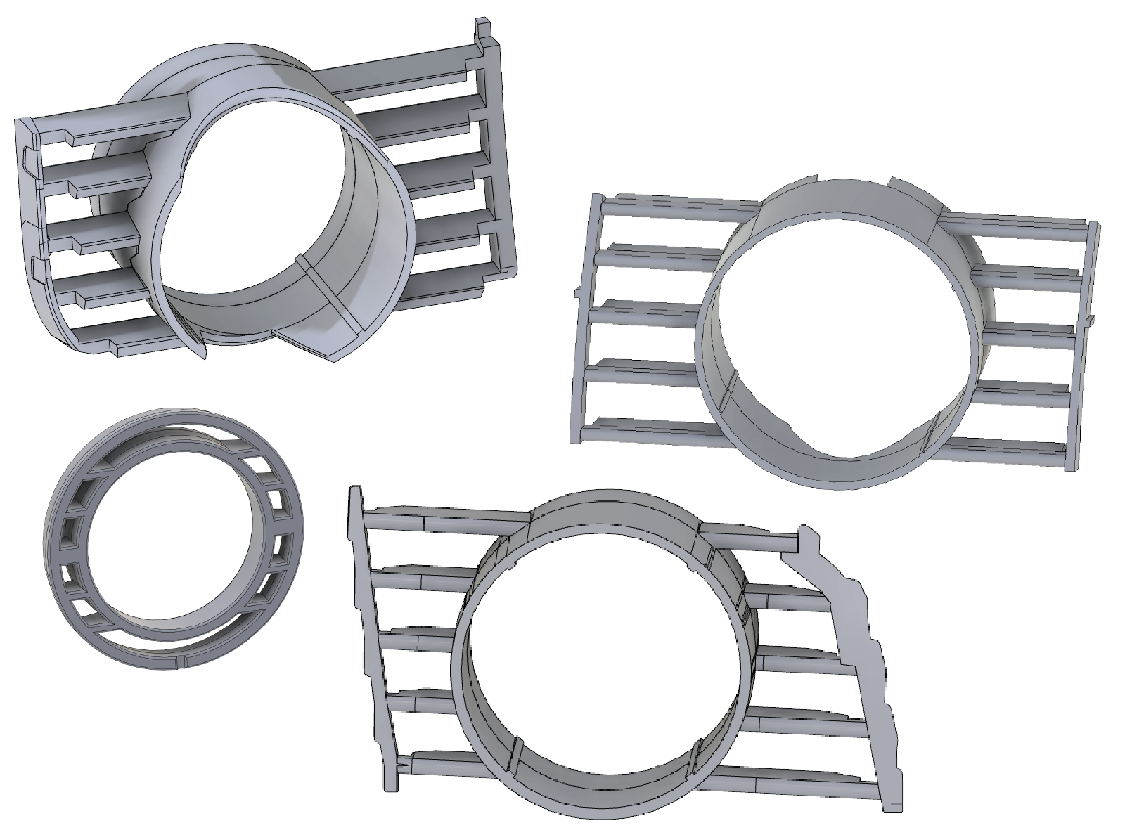 Aftermarket turbo mount CAD Designs
