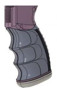 Pistol Grip CAD Model