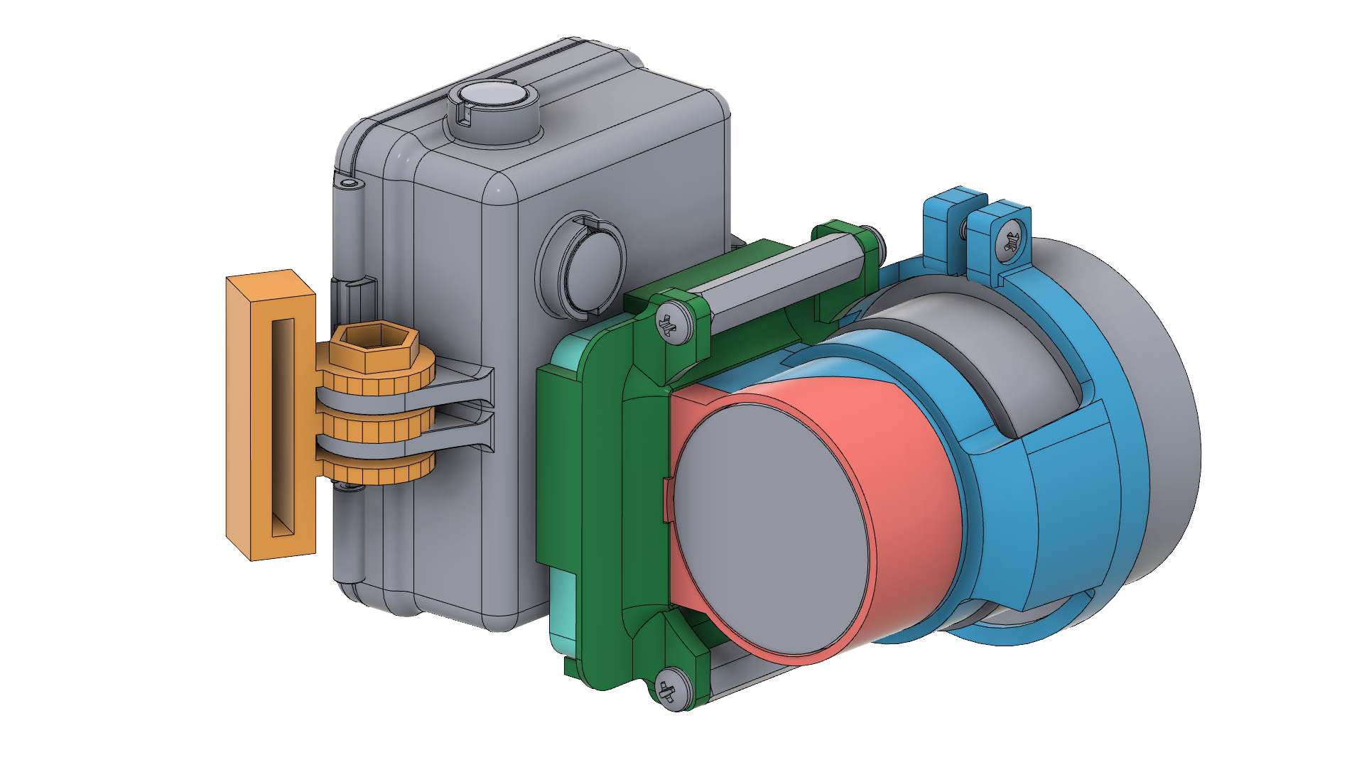 CAD Modeling and Color Renderings of NVG Recording Adaptor