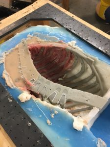 Casting Part of Rib Cage for Surgical Simulator