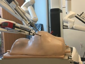 Da Vinci Surgical System Robotics performing surgery on mannequin