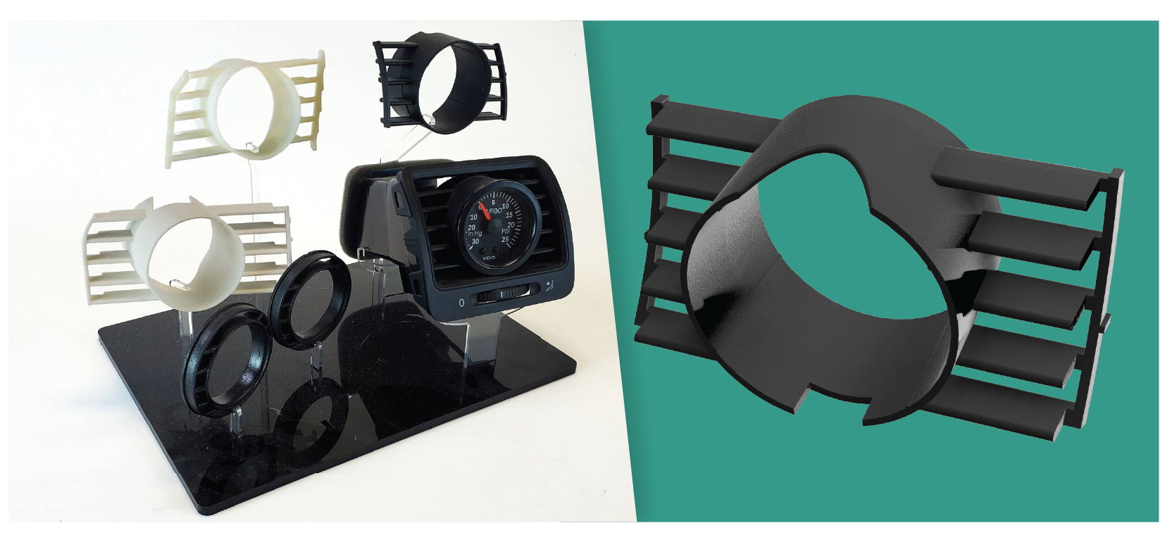 Aftermarket turbo mount Prototyping for Automotive Industry