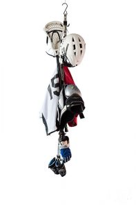 The Utty, a Portable Hook for Storing Lacrosse Equipment