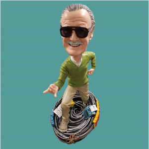 Finished five foot Stan Lee bobblehead