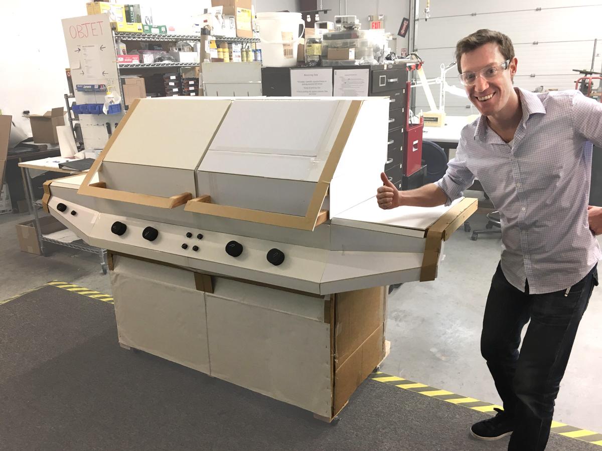 Flippin Grill, Luxury Grill Cardboard Prototype