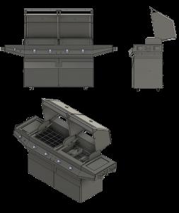Flippin Grill CAD Views