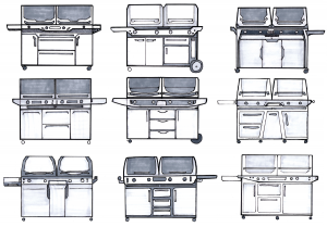 Flippin Grill Concept Sketches