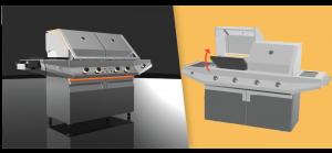 Flippin Grill CAD Renderings