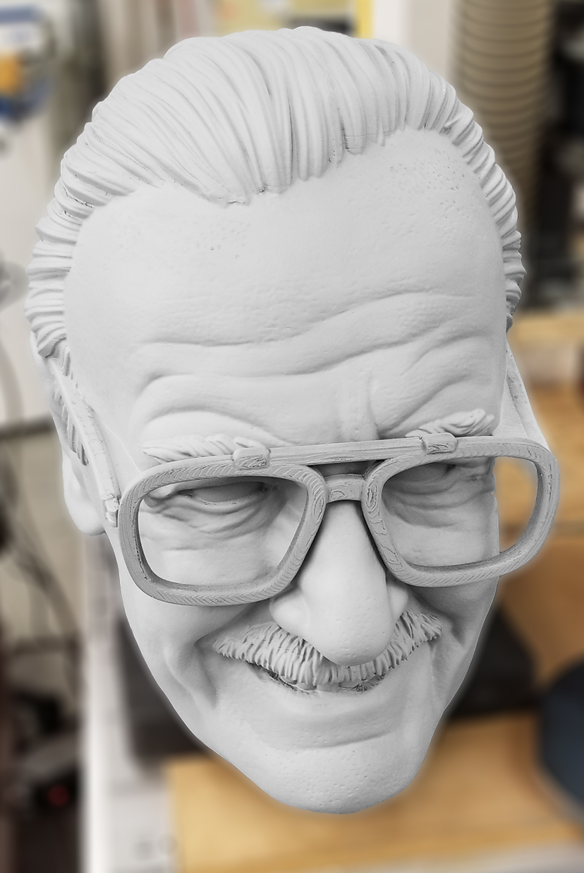 Stan Lee 3D printed bobblehead in progress