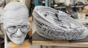 Stan Lee 3D printed base and head