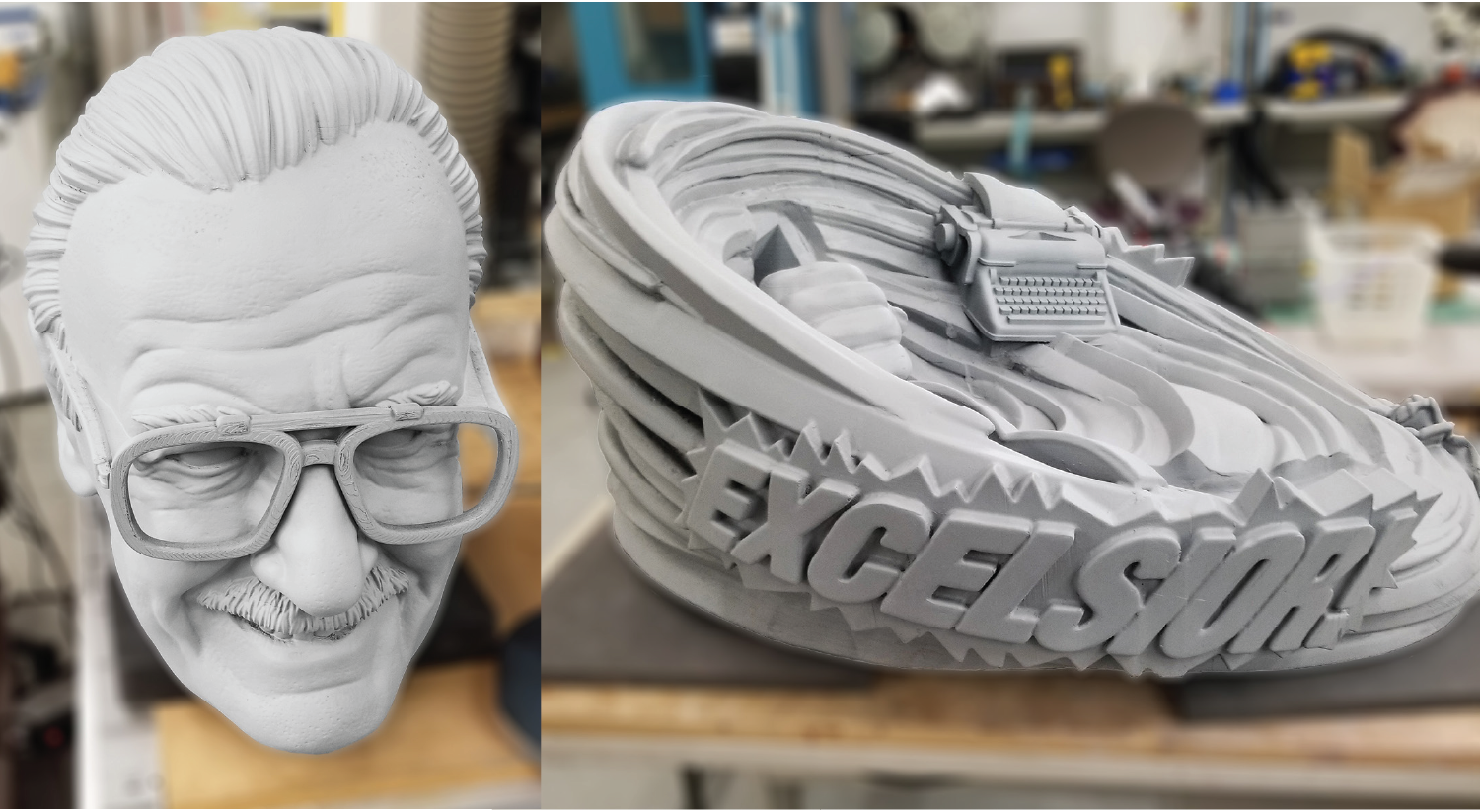 Stan Lee 3D printed base and head
