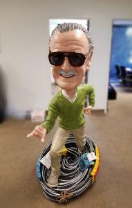 Five foot Stan Lee bobblehead