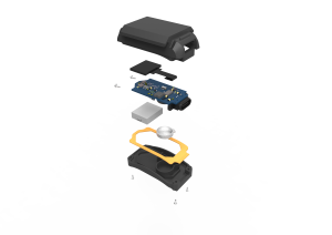 Photo Rendering of Revibe Connect exploded view.