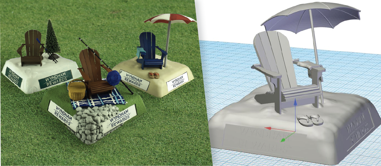 Wyndham Tee Markers Prototypes and CAD