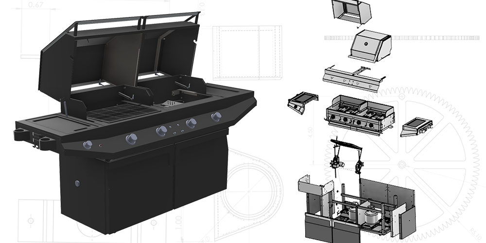 Grill CAD Model. Mechanical Engineering